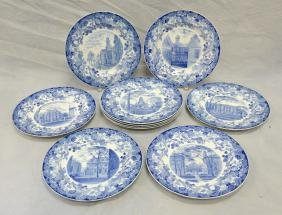 "(10) Wedgwood Harvard Plates, 10-1/4"" Diameter"