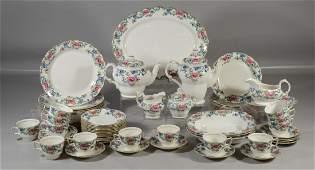 74 Pieces Royal Doulton Floradora pattern dinnerware