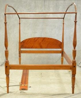 Sheraton Style 4-post Arched Canopy Bed