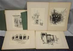 Joseph Pennell (American,1857-1926), portfolio of
