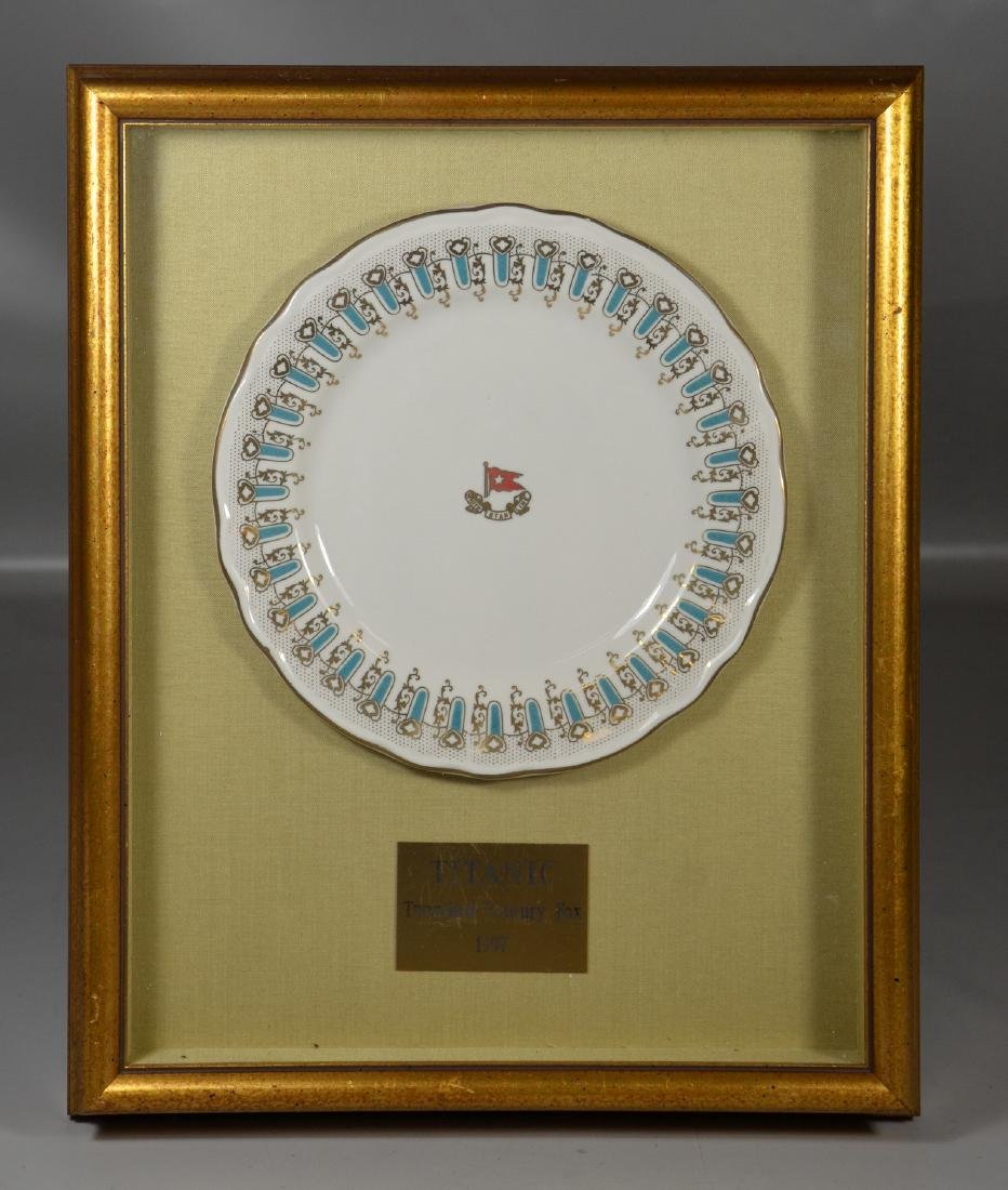 Reproduction Titanic White Star Line dinner plate, used