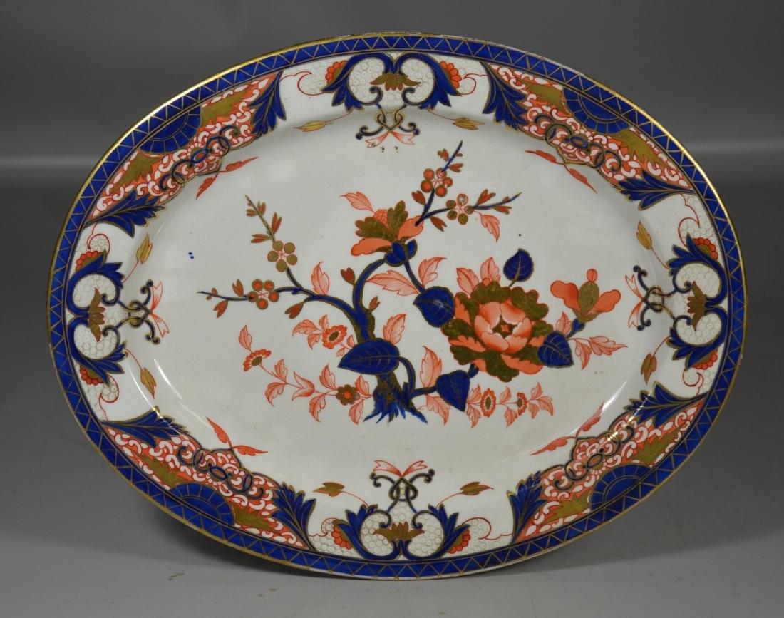 "Early Crown Derby ""Imari palette"", oval platter,"