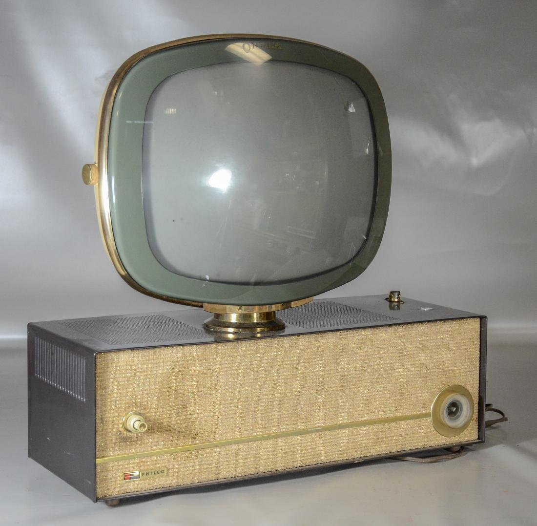 Philco Predicta TV on stand, slight indentation and
