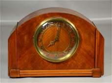 Seth Thomas blonde mahogany mantle clock 912 x