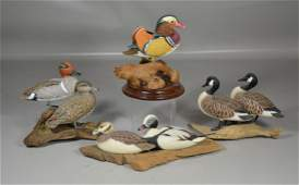 (4) Larry Tawes Jr carved and painted wood bird figures