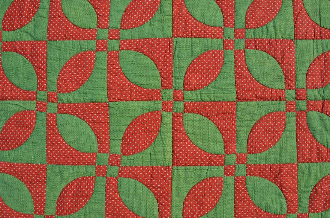 """Rose Dream"""" quilt from Cedarville, NJ, circa 1890, from"""