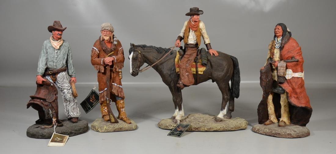 (4) Monfort Original Western sculptures from Boulder,
