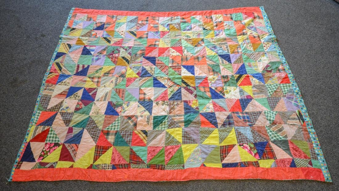 "Patchwork quilt, approx 72"" x 90"""