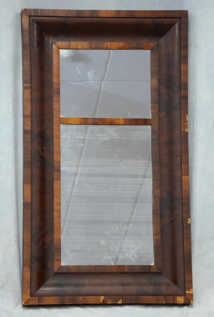 American Federal mahogany ogee mirror, flamed grain
