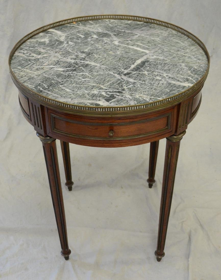 Antique Louis XVI style marble table buillotte table,