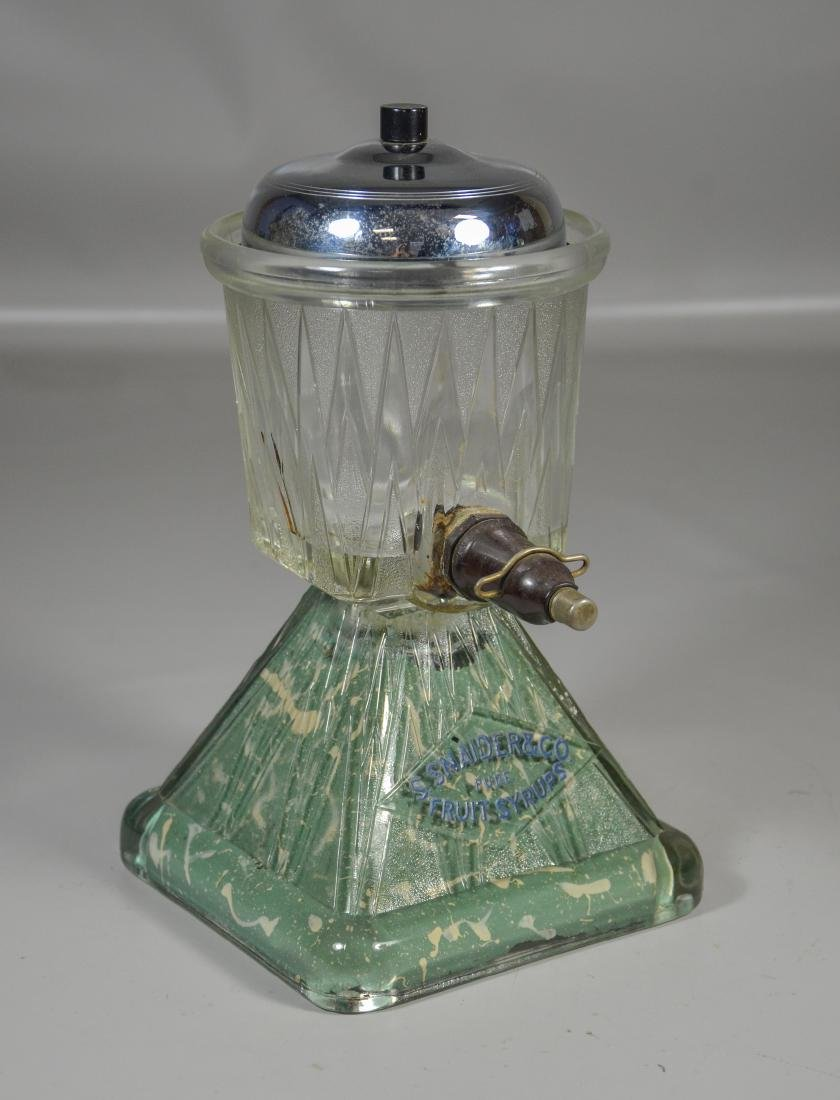 Snaider & Co soda fountain syrup dispenser