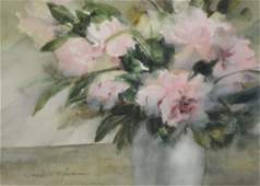 Carolyn Anderson watercolor still life roses