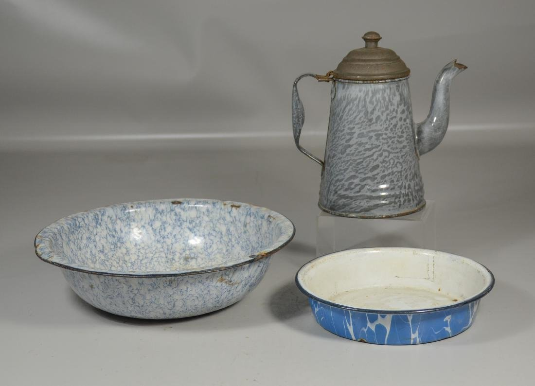 (3) Pieces of agateware