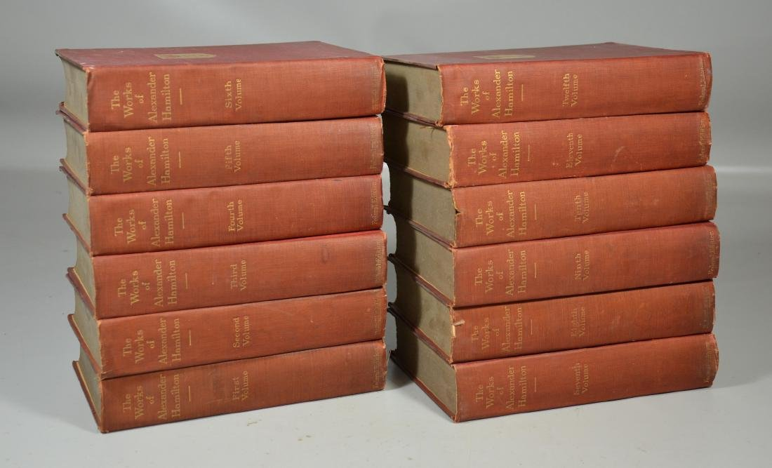"""(12) Volumes of """"The Works of Alexander Hamilton"""""""