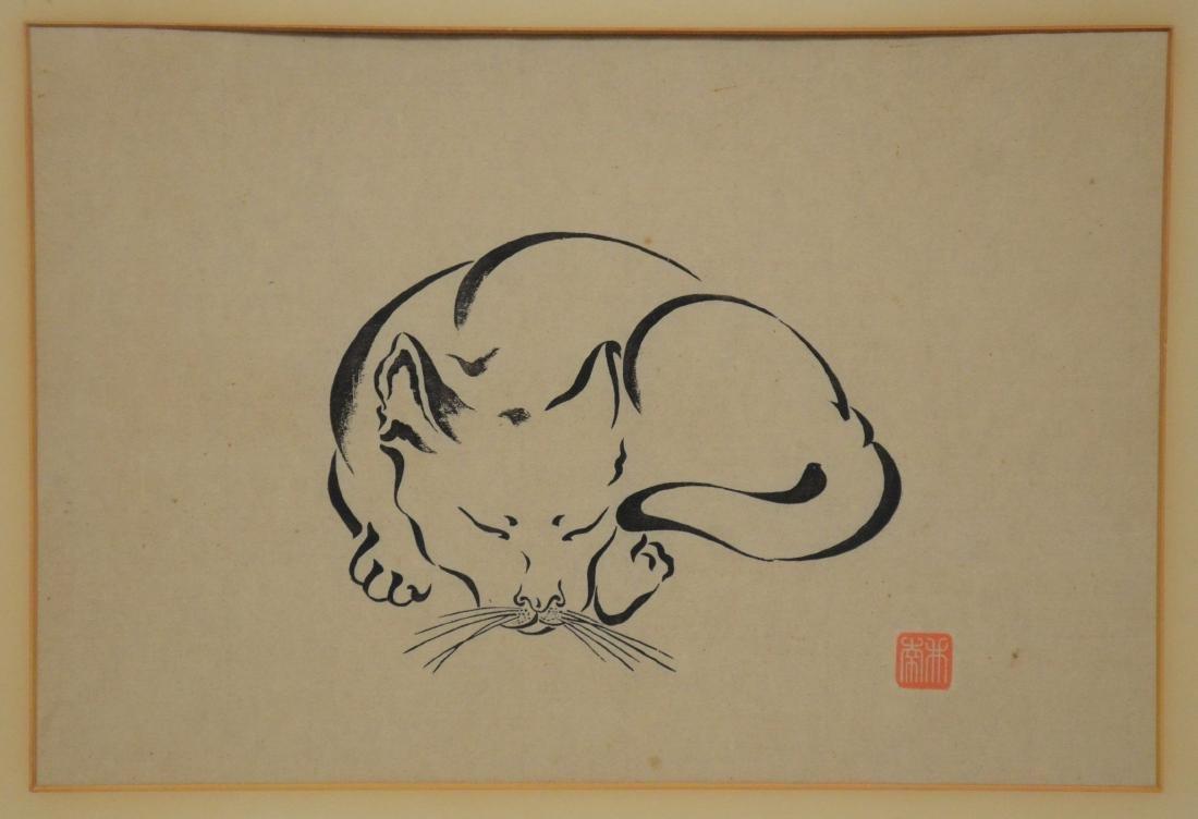 Asian cat print