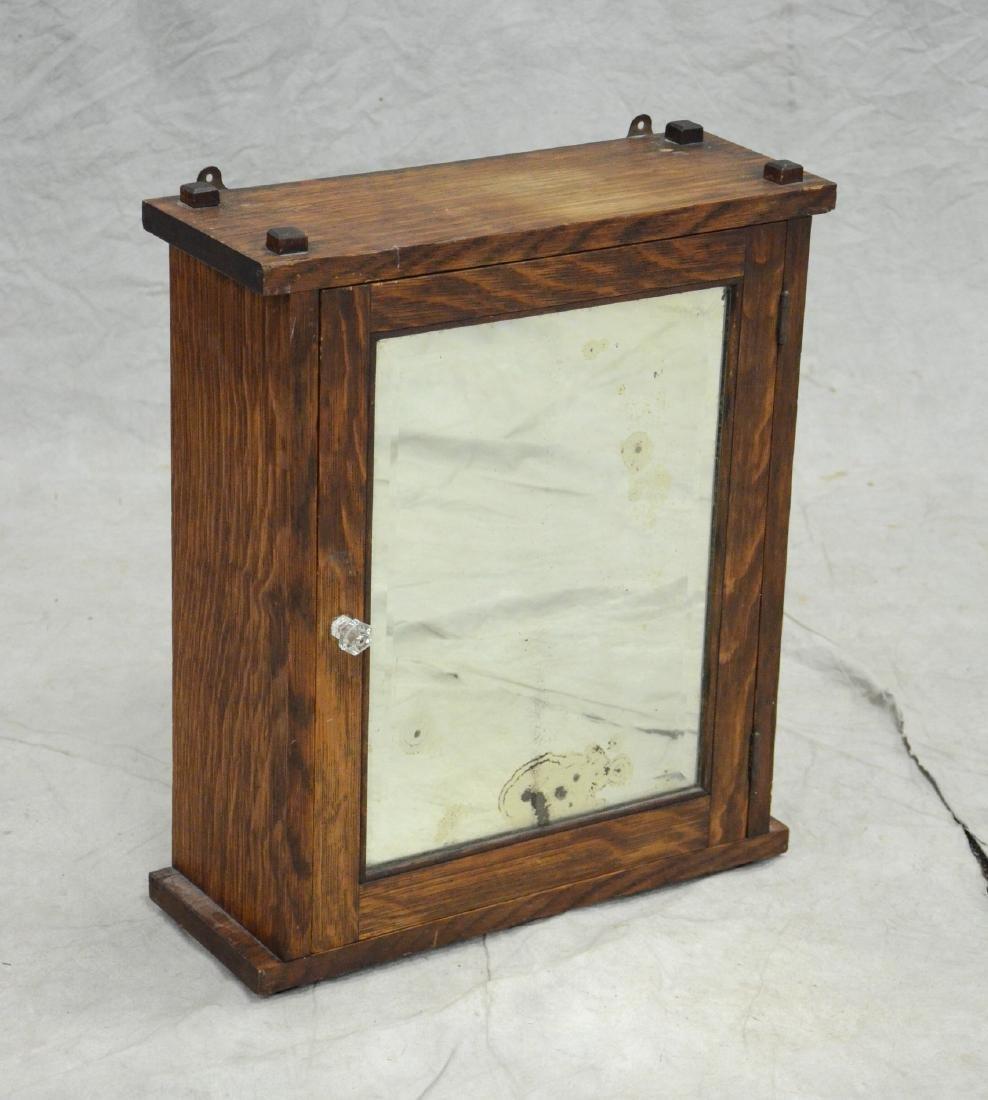 Oak Arts & Crafts hanging cabinet