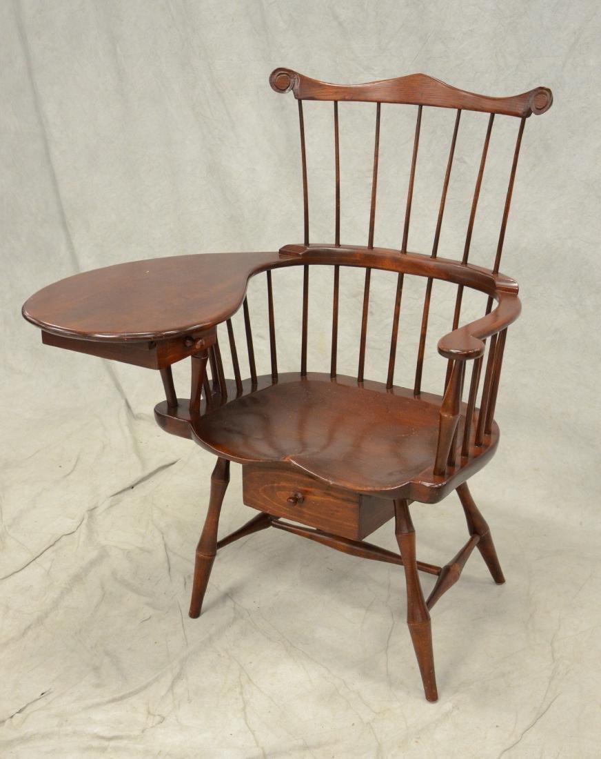 Windsor comb-back writing armchair