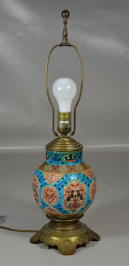 French Art Deco Pottery Vase Greyhound Decoration