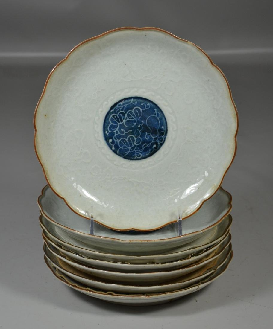 (7) Japanese Blue and White Plates