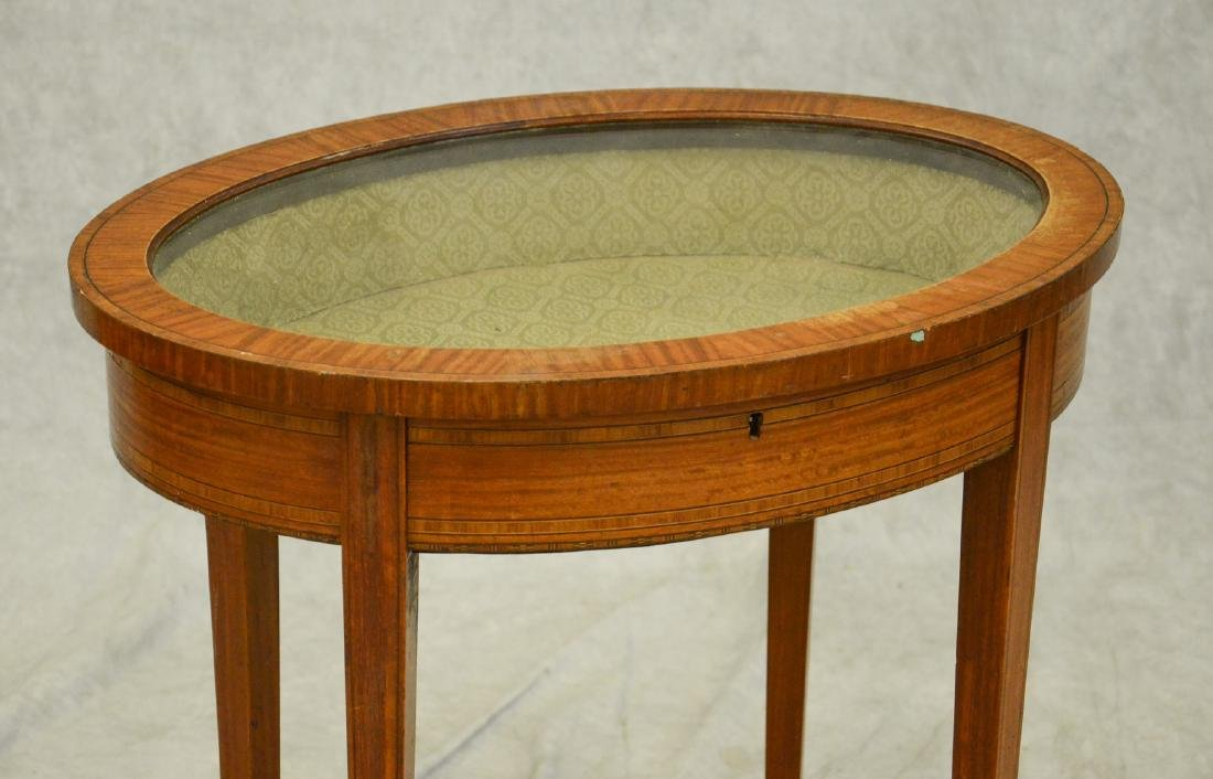 Hepplwhite Style Banded and Inlaid Vitrine - 2