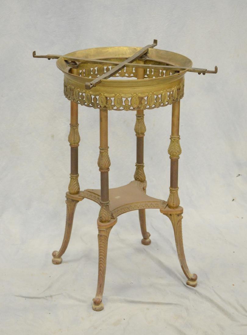 19th C Bronze Gueridon Center Table