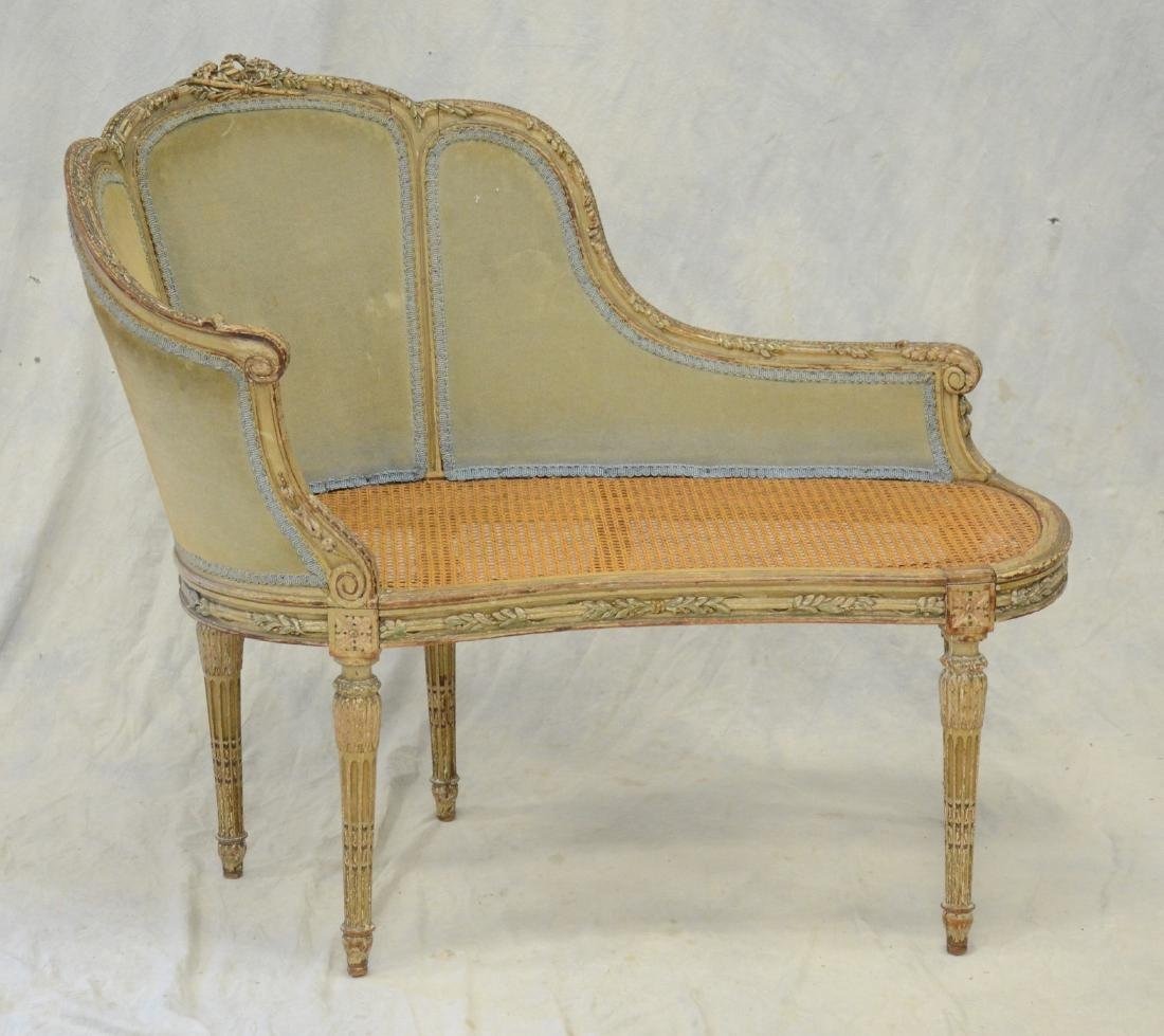 Antique Louis XVI Style Painted Canape Bench
