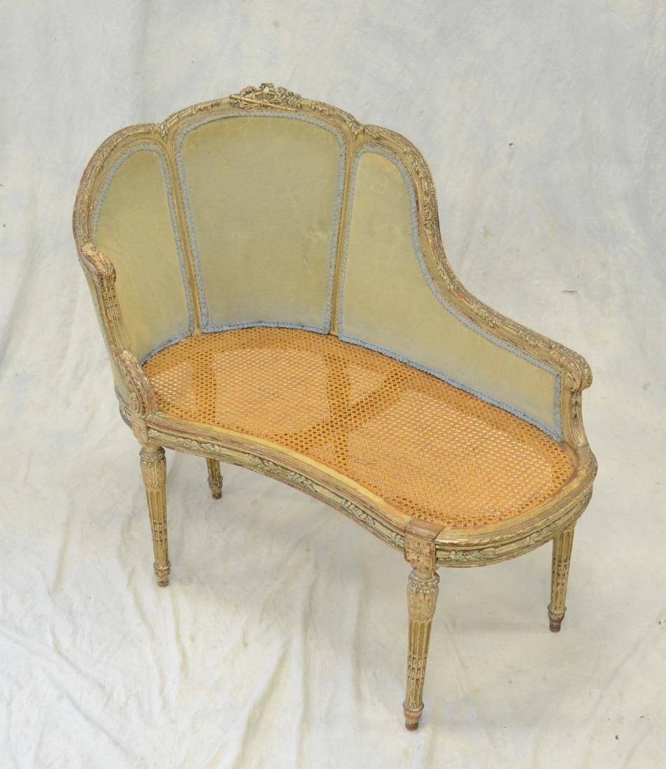 Antique Louis XVI Style Painted Canape Bench - 2