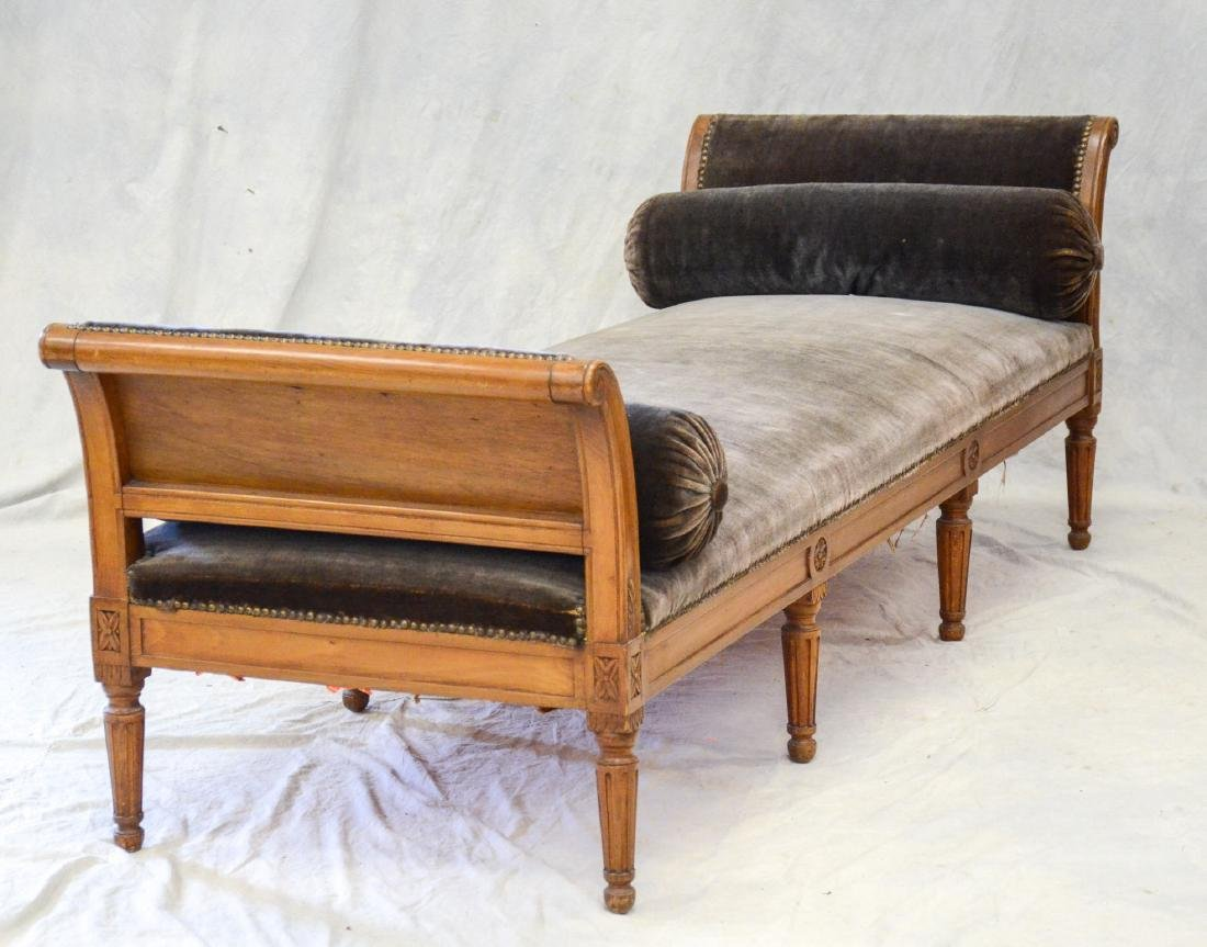 Antique Louis XVI Carved Walnut Daybed