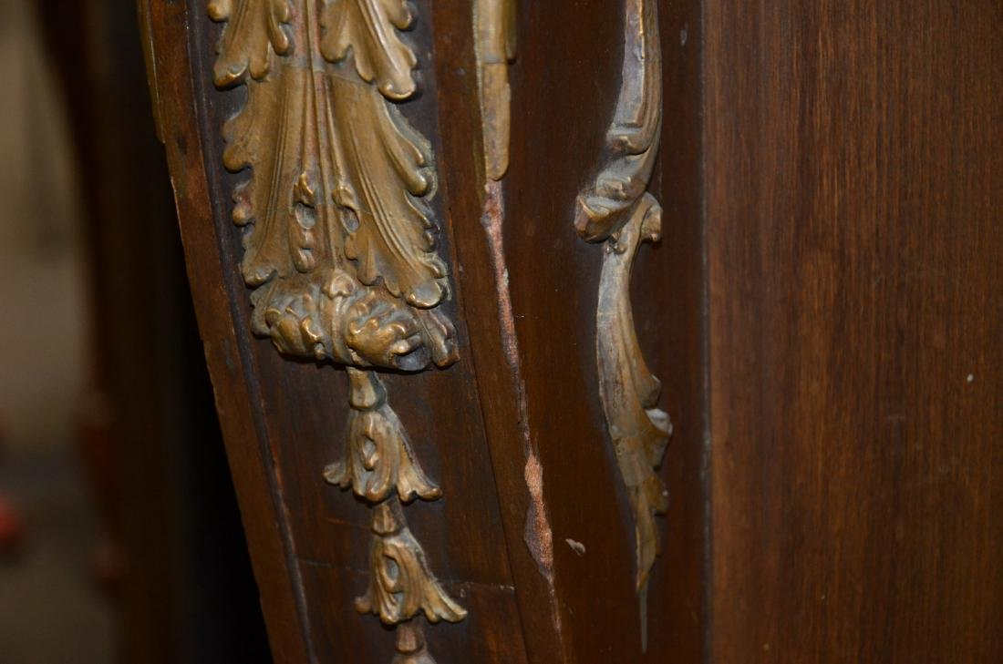 Antique Mahogany Carved and Gilt Fireplace Mantle - 6