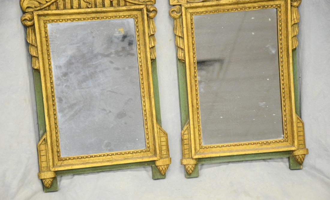 Companion Pair of Antique French Gilt Carved Mirrors - 3