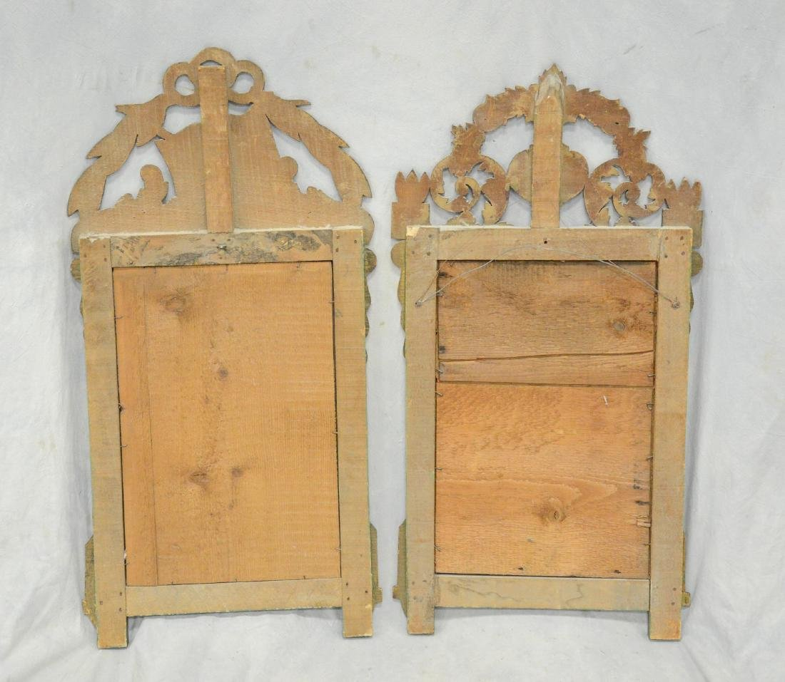 Companion Pair of Antique French Gilt Carved Mirrors - 4