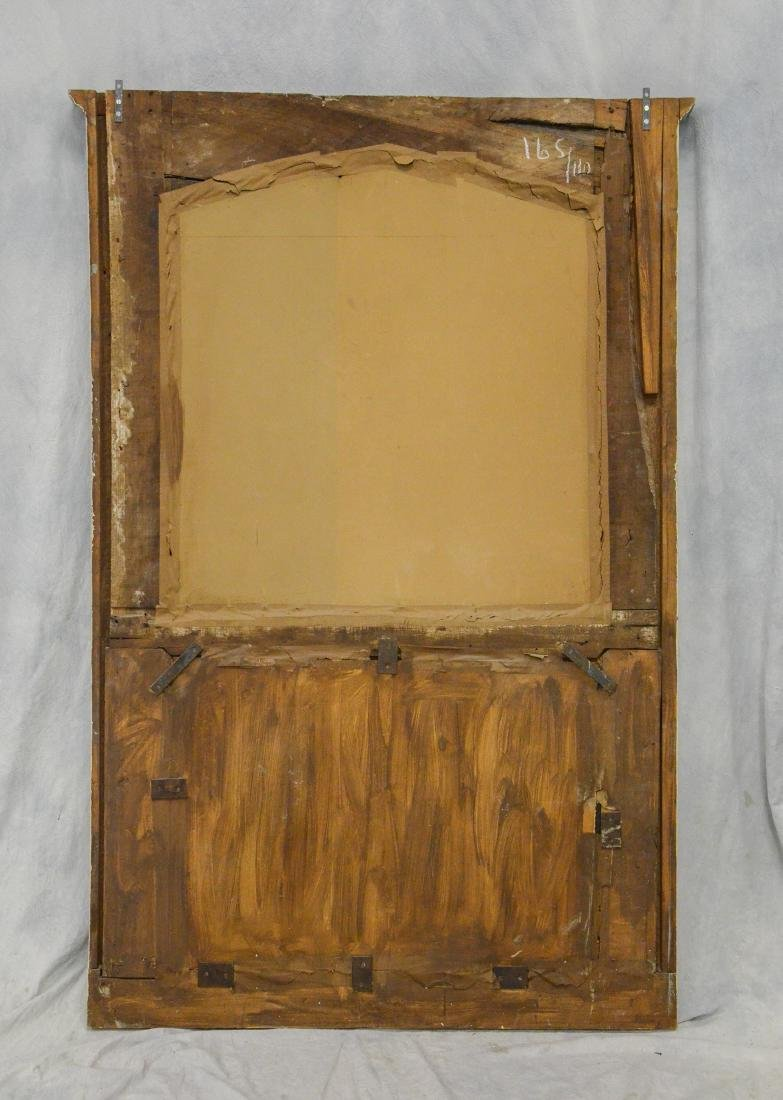 Antique French Trumeau Mirror - 5