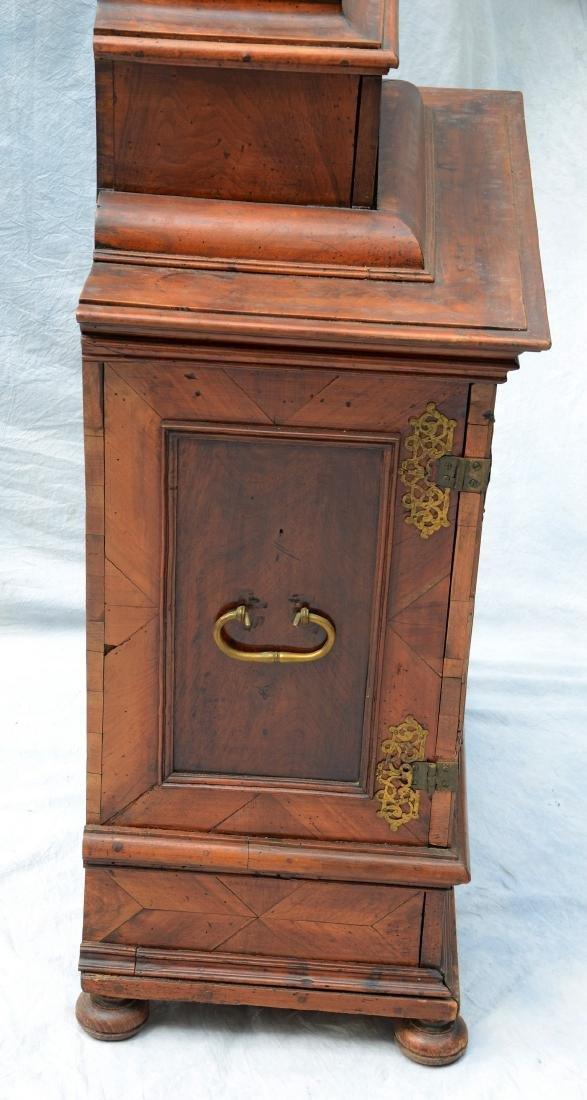Continental banded and inlaid walnut side cabinet - 3