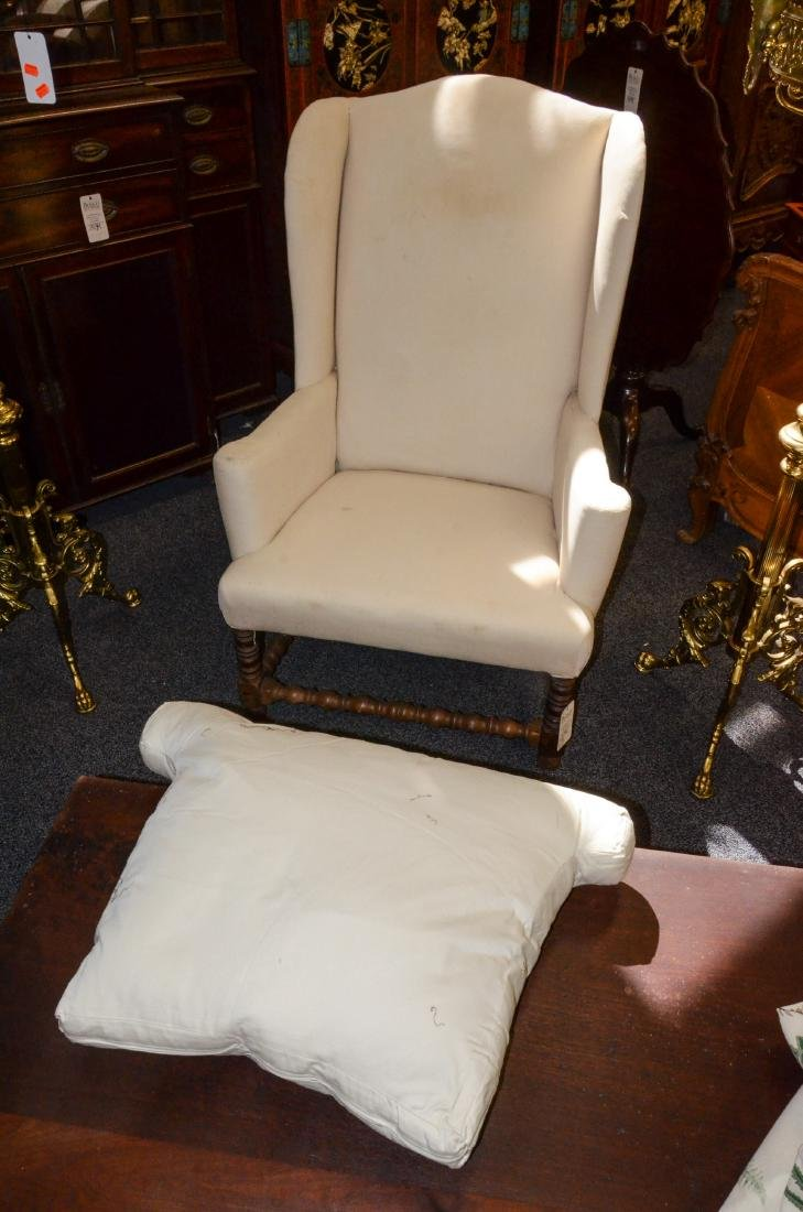 William and Mary style wing chair - 2