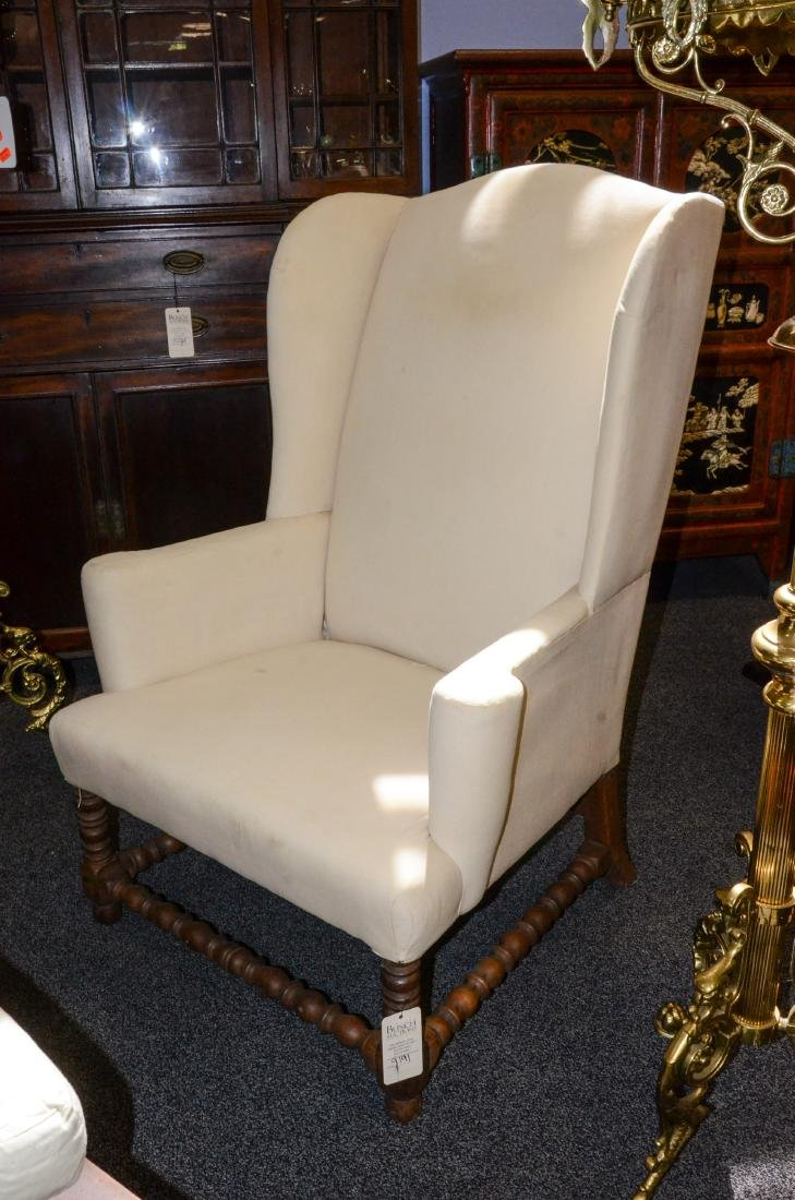 William and Mary style wing chair - 4
