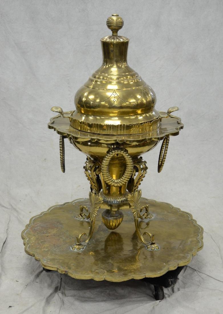 Turkish brass brazier