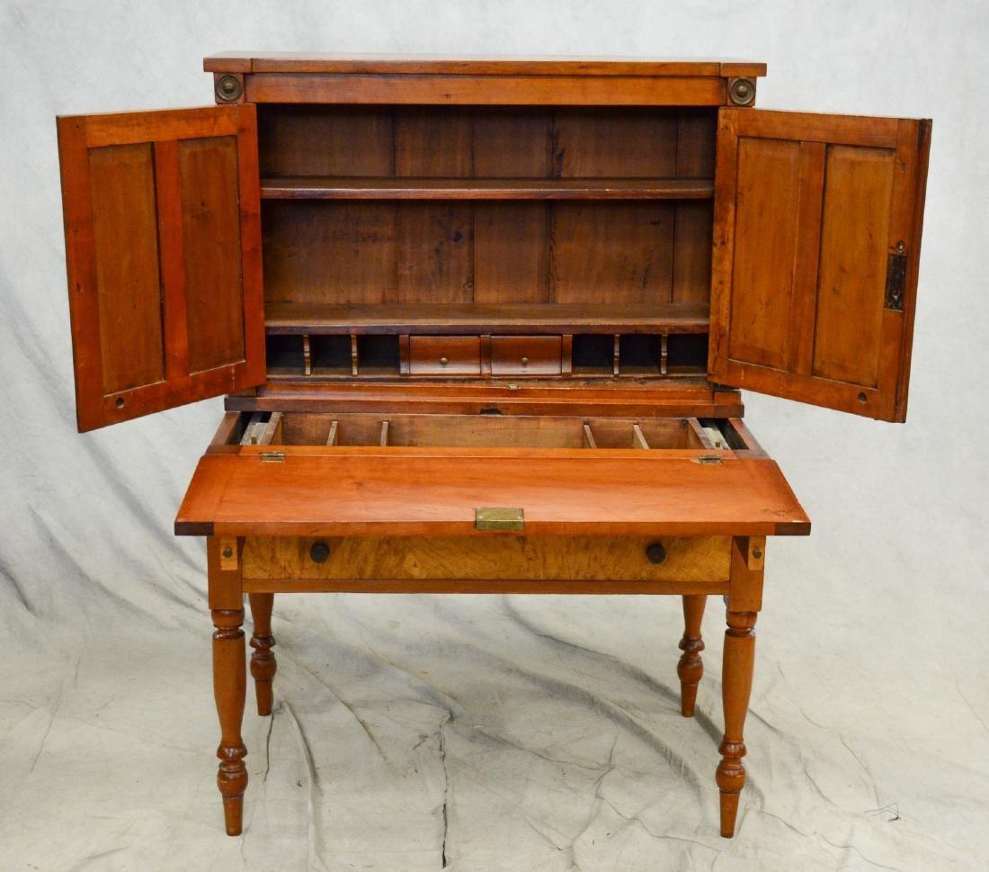 Cherry Sheraton country desk, 2 pc - 3