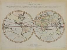 Nicolas Sanson Orbis Vetus 1657 hemisphere map