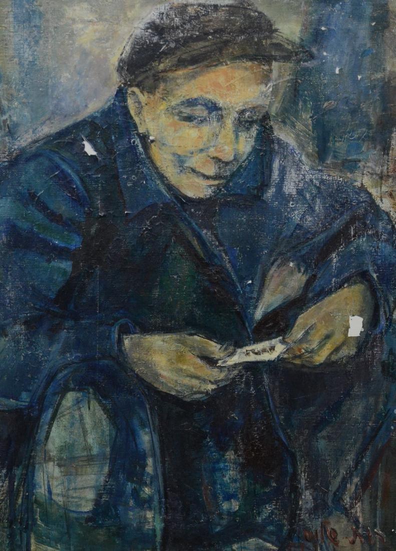 Ruth Schloss, oil on canvas, figure of a man