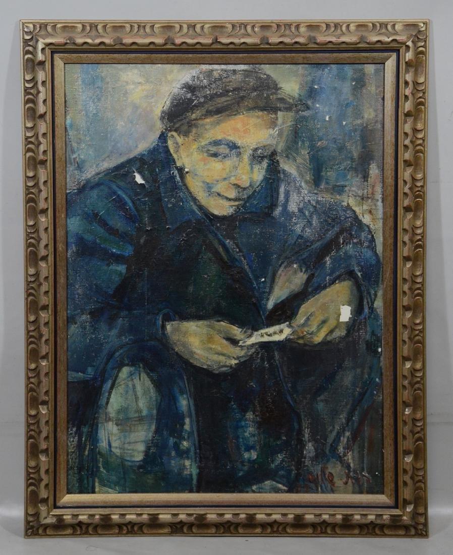 Ruth Schloss, oil on canvas, figure of a man - 2