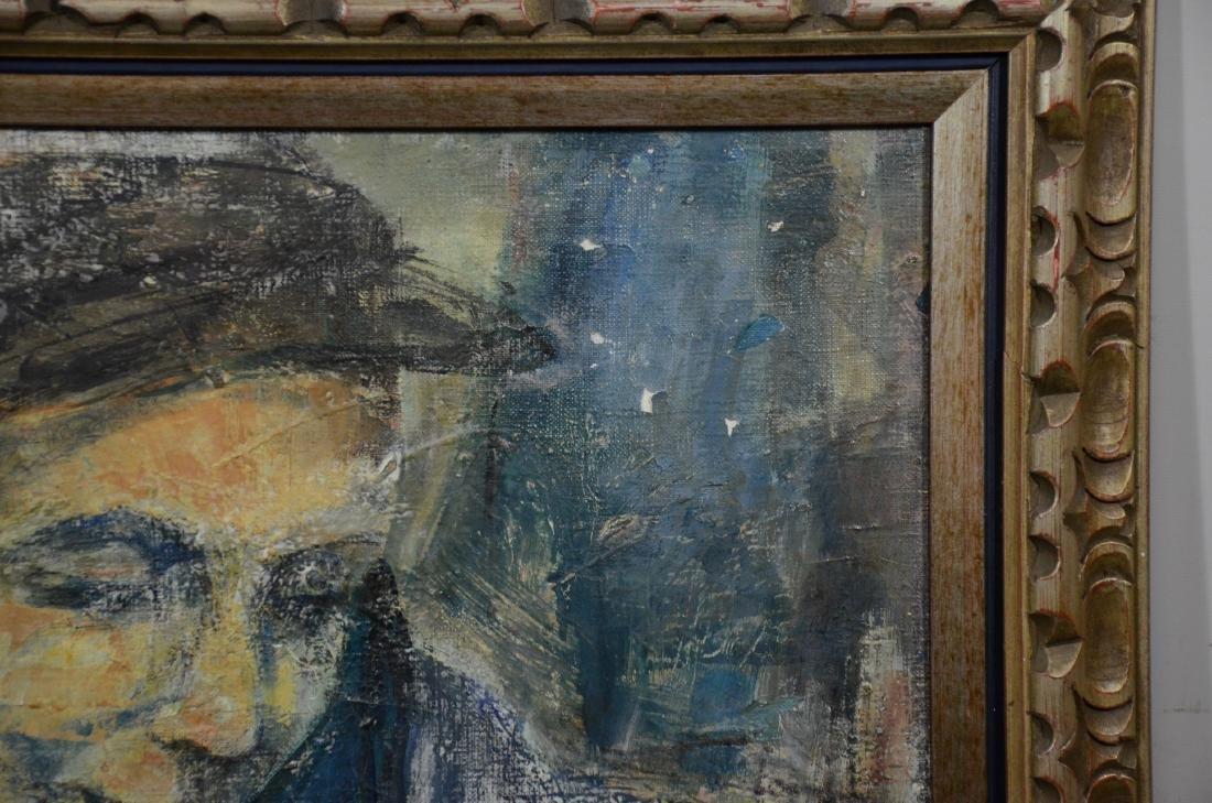 Ruth Schloss, oil on canvas, figure of a man - 3