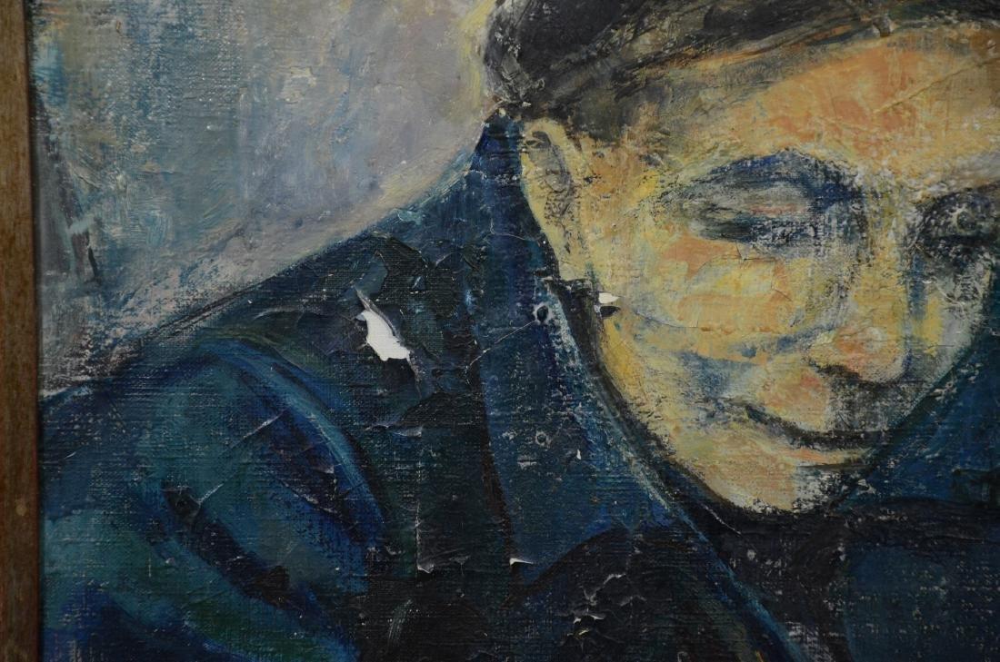 Ruth Schloss, oil on canvas, figure of a man - 4