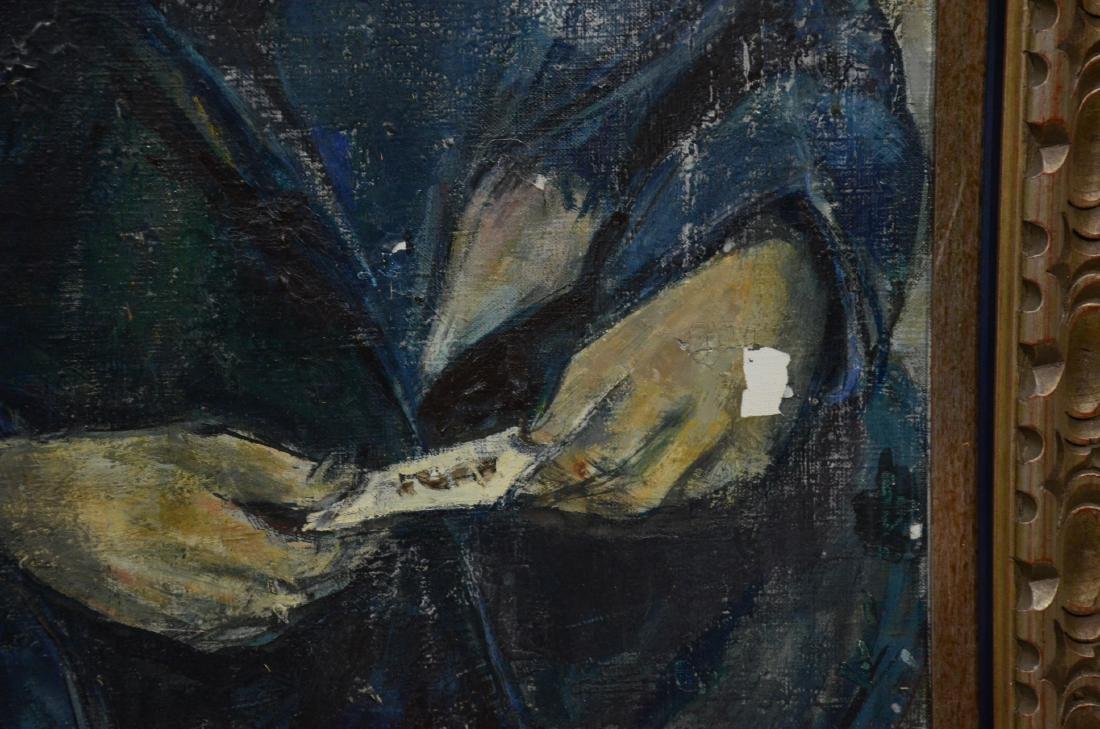 Ruth Schloss, oil on canvas, figure of a man - 5
