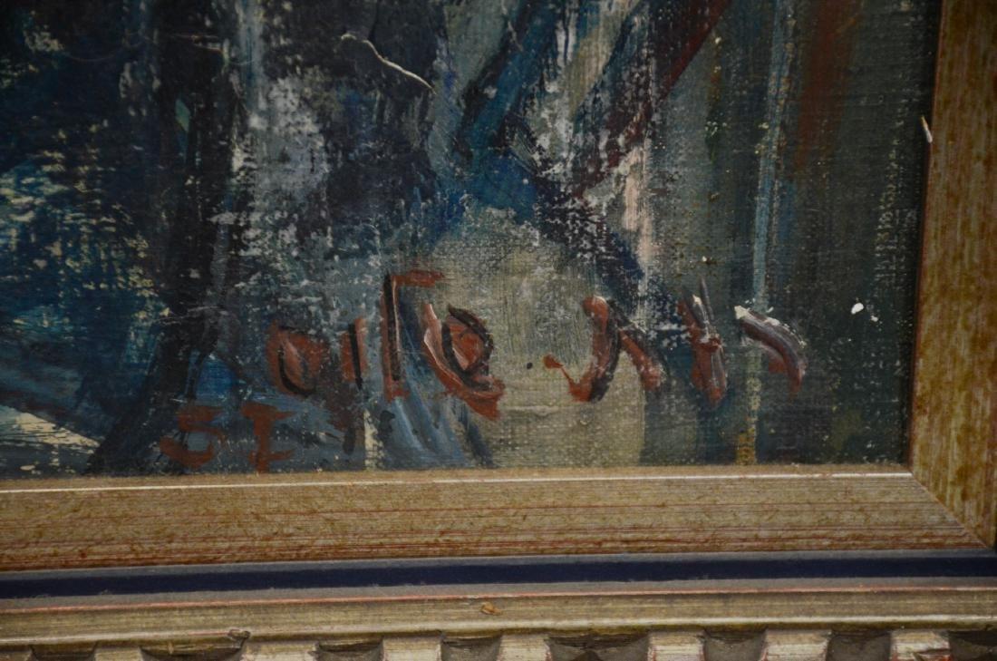 Ruth Schloss, oil on canvas, figure of a man - 6