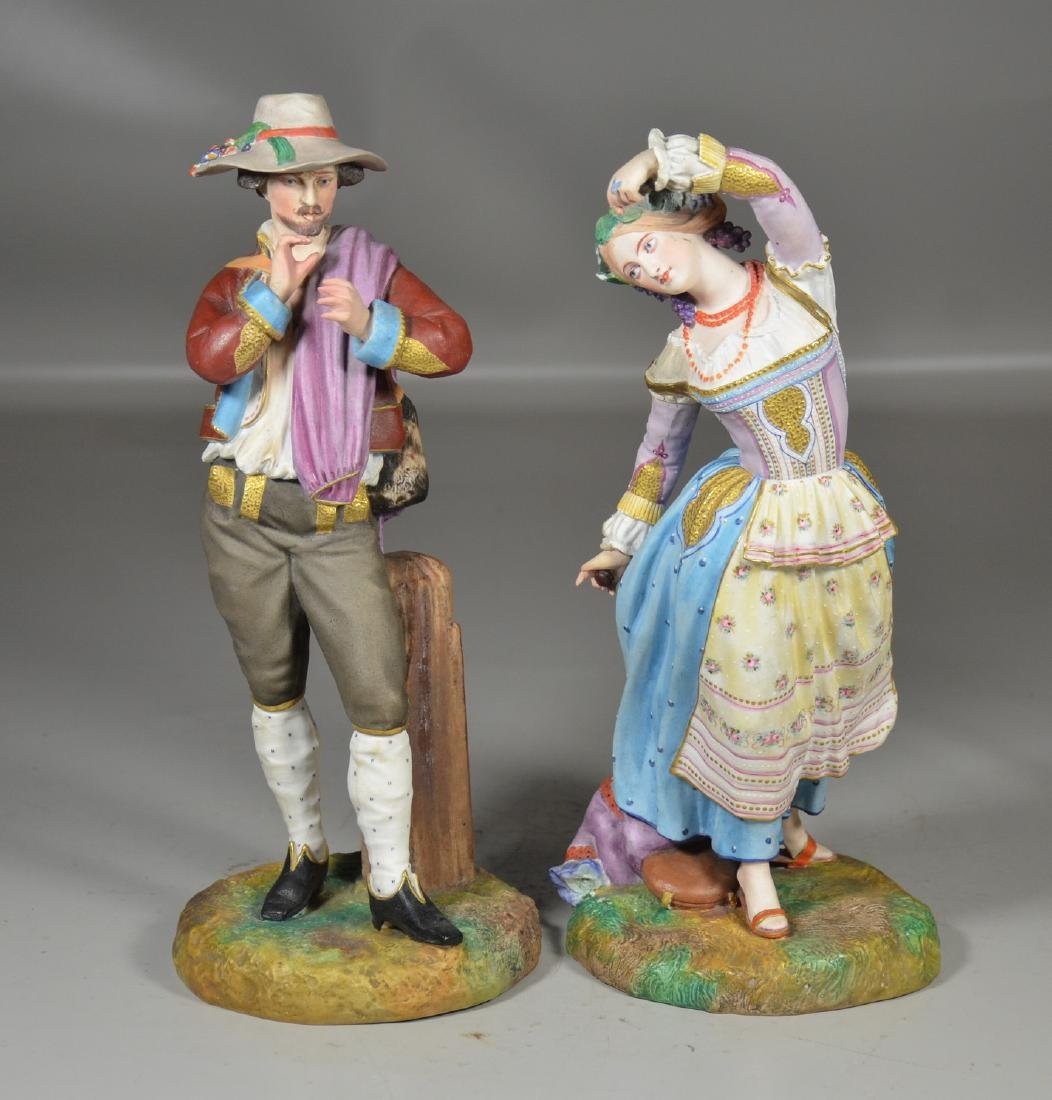 Pr French porcelain bisque figures, Jean Gille, Paris