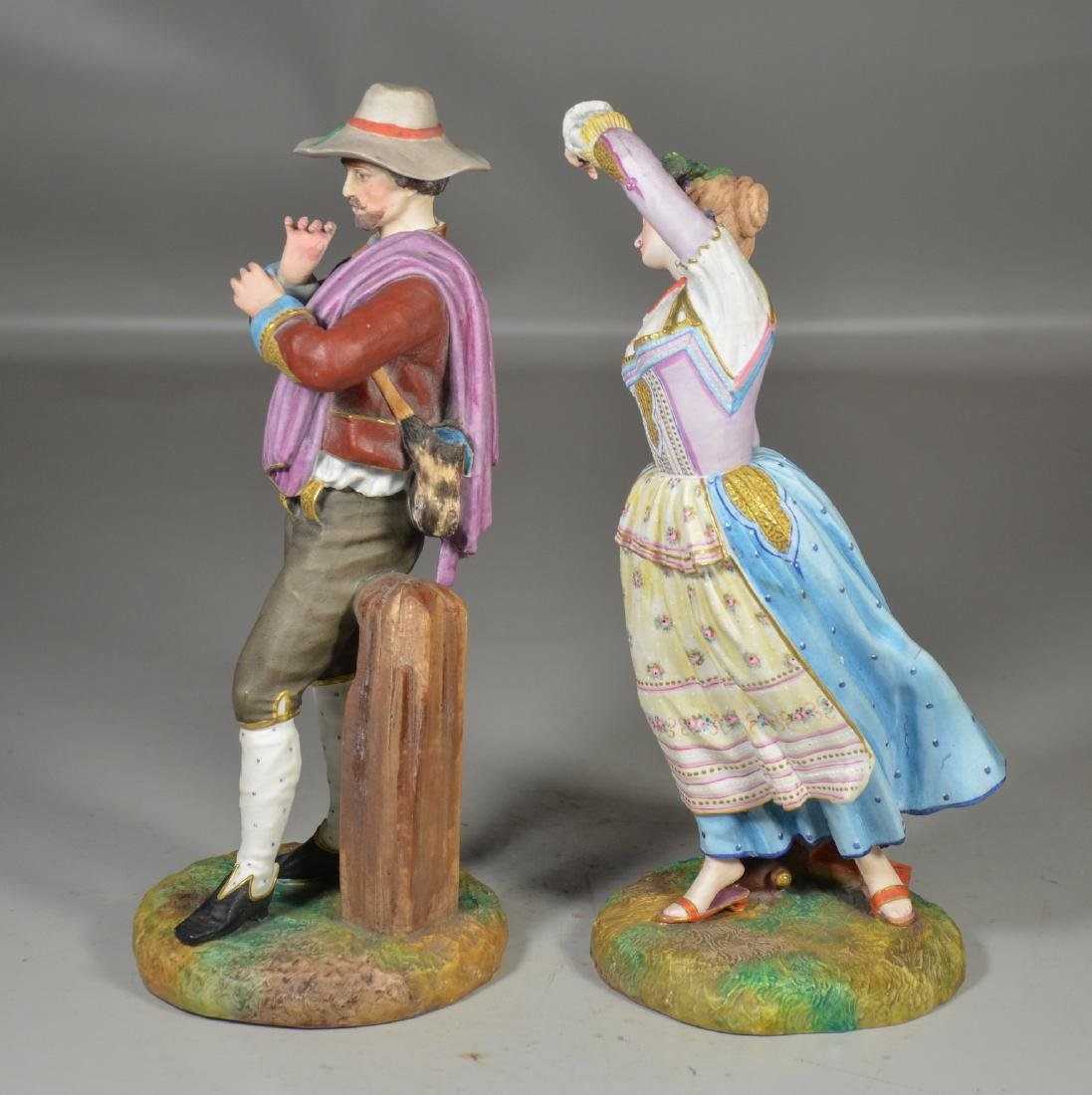 Pr French porcelain bisque figures, Jean Gille, Paris - 2