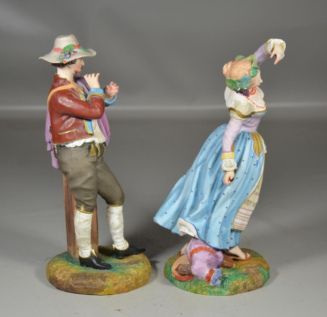 Pr French porcelain bisque figures, Jean Gille, Paris - 4