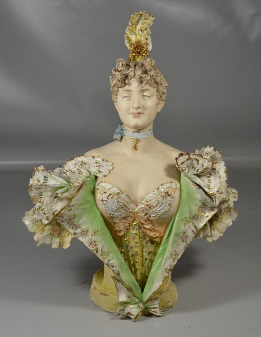 Continental Porcelain Bust of a Woman