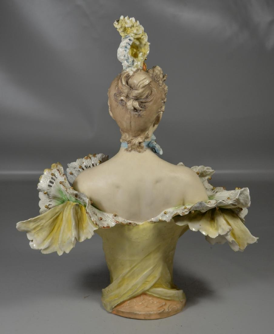 Continental Porcelain Bust of a Woman - 5