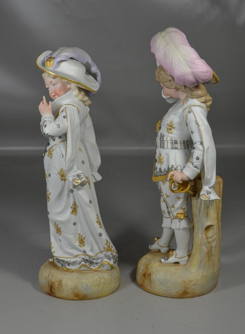 Pair of Continental Bisque Figures - 2
